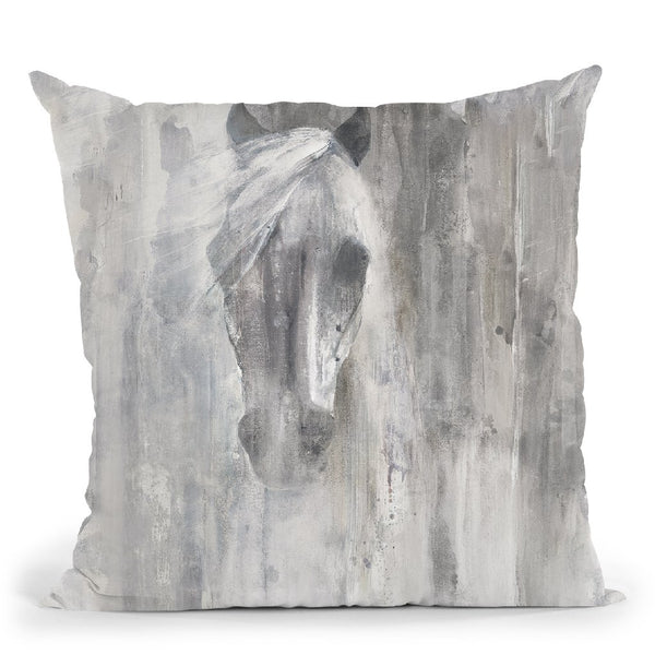 Shadow Gray Throw Pillow By Albena Hristova