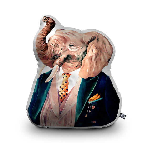 Elephant Throw Pillow By Animal Crew - by all about vibe