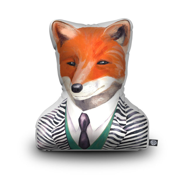 Fox Throw Pillow By Animal Crew - by all about vibe