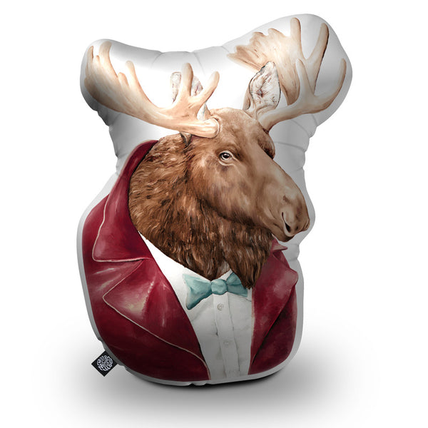 Moose Shaped Throw Pillow by Animal Crew - by all about vibe