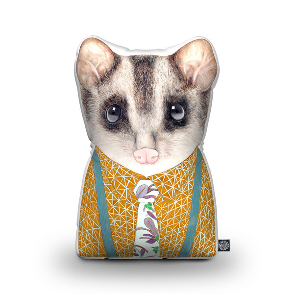 Possum Shaped Throw Pillow by Animal Crew - by all about vibe