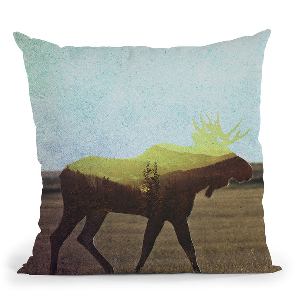 Moose Throw Pillow By Andreas Lie