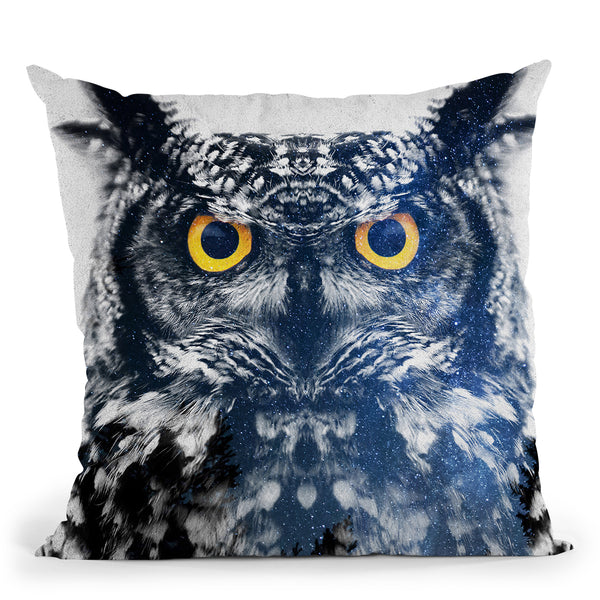 Night Owl Throw Pillow By Andreas Lie