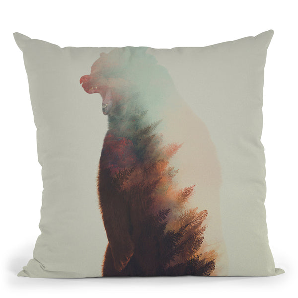 Norwegian Woods Bear Throw Pillow By Andreas Lie