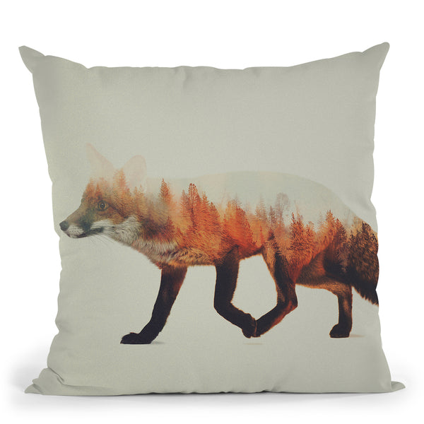 The Fox Norwegian Woods Throw Pillow By Andreas Lie