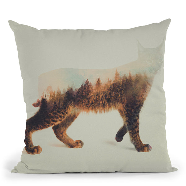The Lynx Norwegian Woods Throw Pillow By Andreas Lie