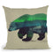 Polar Bear In Northern Lights Throw Pillow By Andreas Lie
