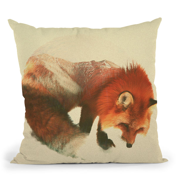 Snow Fox Throw Pillow By Andreas Lie