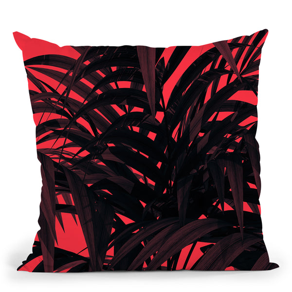Tropical Leaf Throw Pillow By Andreas Lie