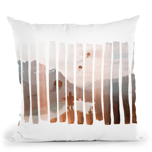 Up Stream Throw Pillow By Andreas Lie