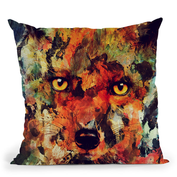 Watercolor Fox Throw Pillow By Andreas Lie