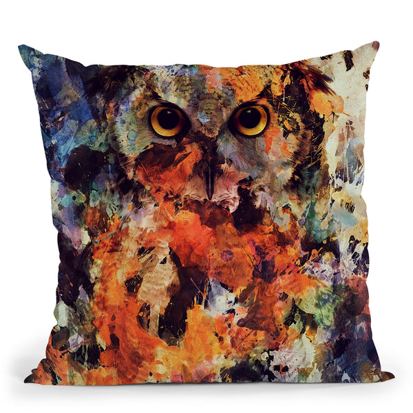 Watercolor Owl Throw Pillow By Andreas Lie