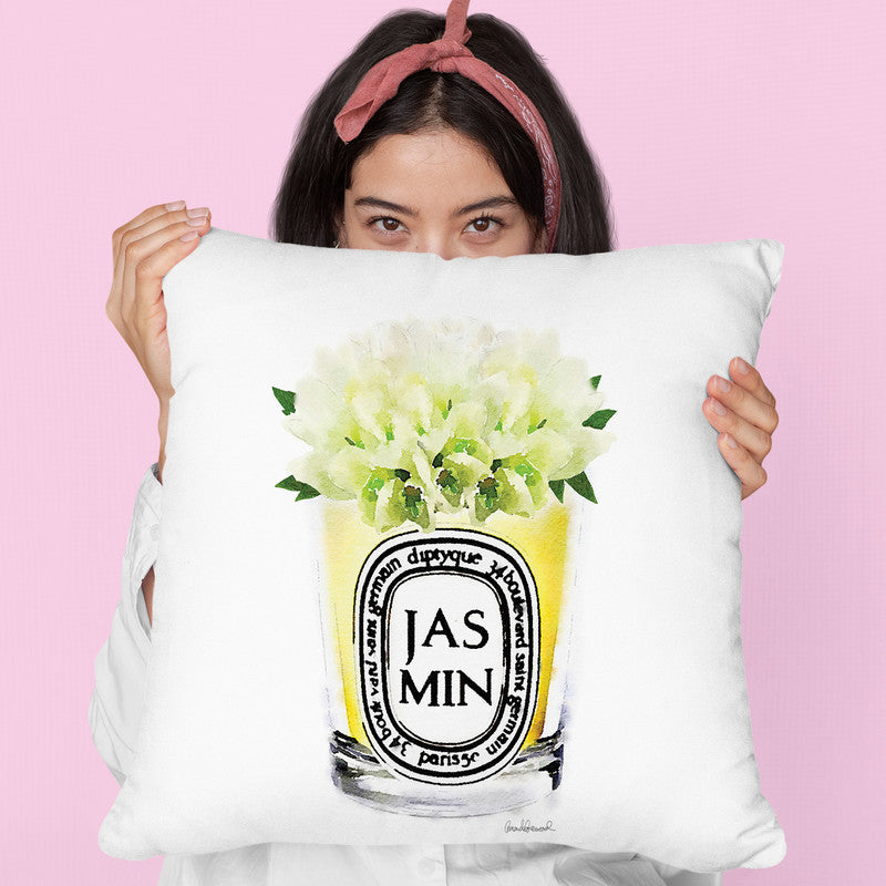 Candle Jasmin Throw Pillow By Amanda Greenwood