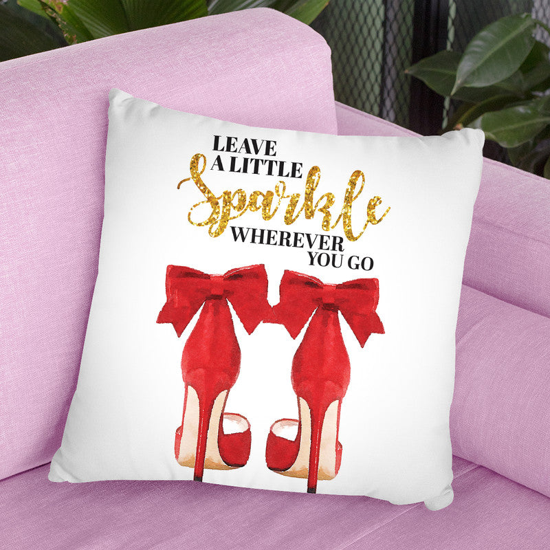Leave A Little Sparkle Redoes Throw Pillow By Amanda Greenwood