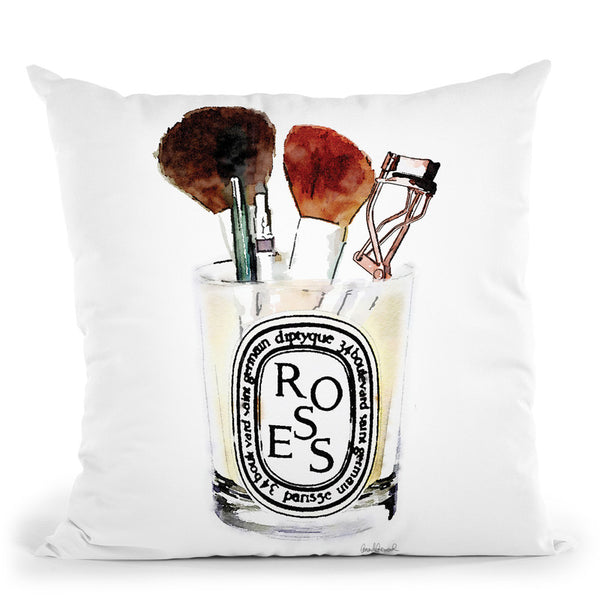 My Favorite Makeup Tools Throw Pillow By Amanda Greenwood
