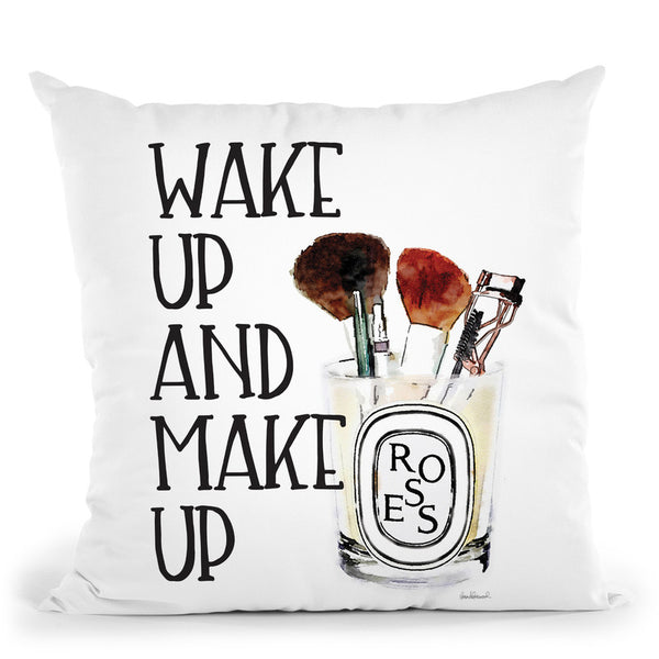 Wake Up And Make Up Iii Throw Pillow By Amanda Greenwood