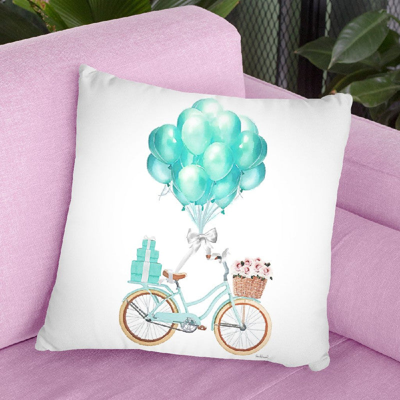 Bike Ride Throw Pillow By Amanda Greenwood