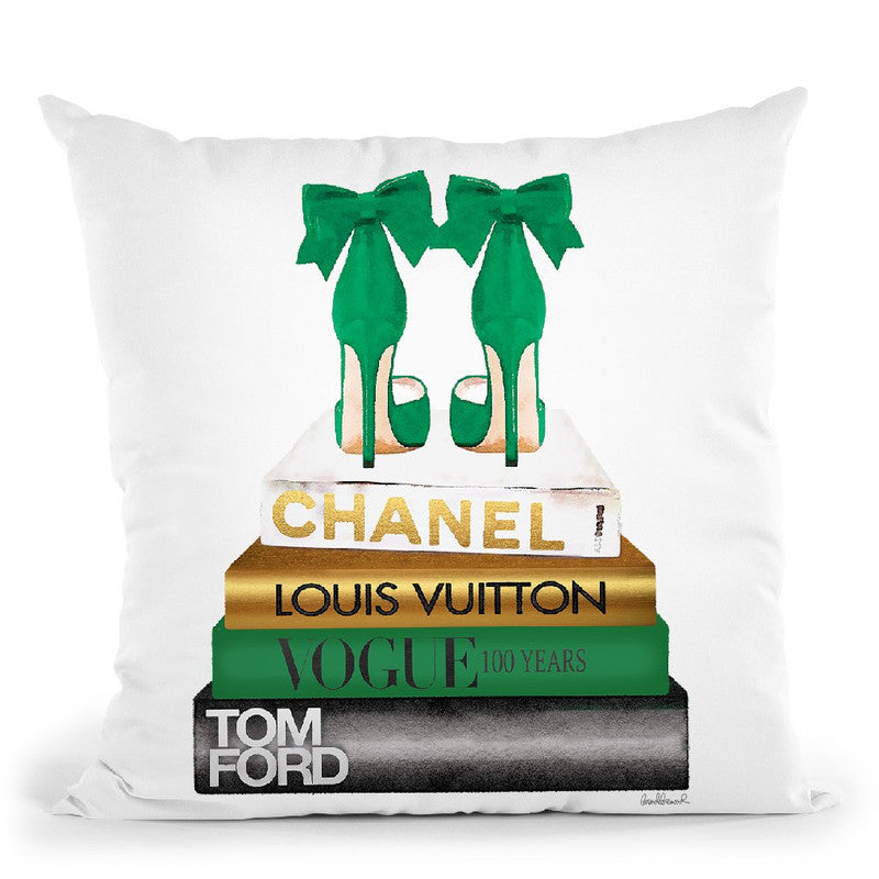 New Books Grey Emerald Green, Bowoes Throw Pillow By Amanda Greenwood