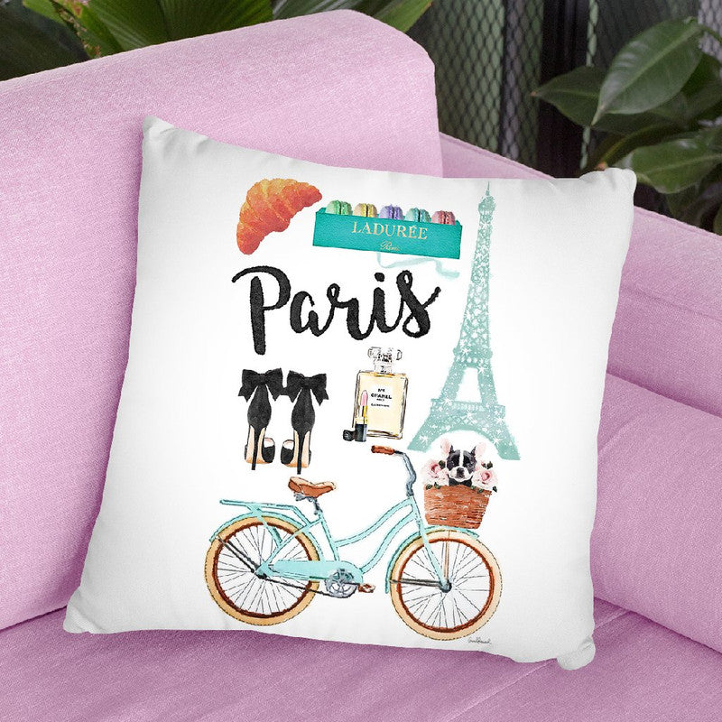 Paris City College Throw Pillow By Amanda Greenwood