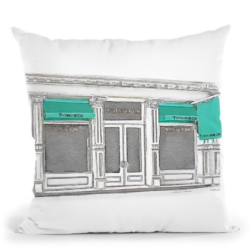 Shop Front Teal Throw Pillow By Amanda Greenwood