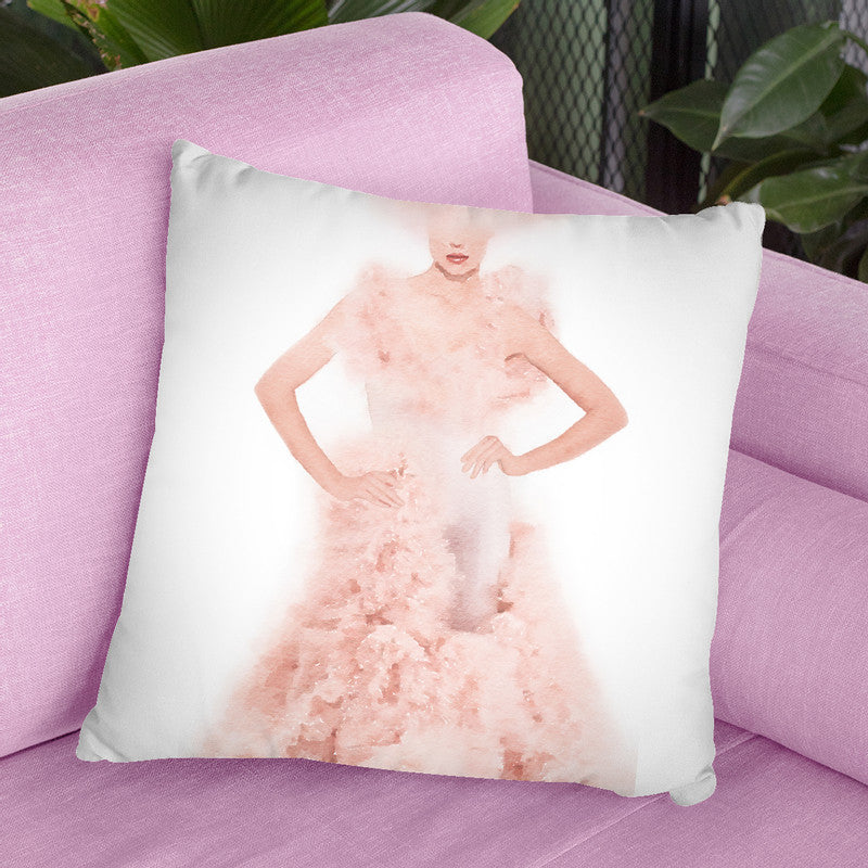 Pink Ball Gown Throw Pillow By Amanda Greenwood