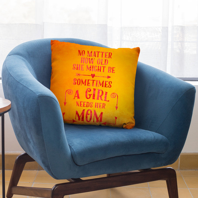 A Girl Needs Her Mom Throw Pillow By Andrea Haase