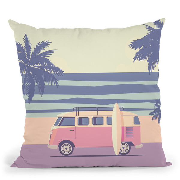 A Tropical Wave Throw Pillow By Andrea Haase