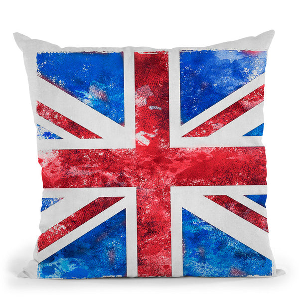 A Union Jack Keywords Throw Pillow By Andrea Haase