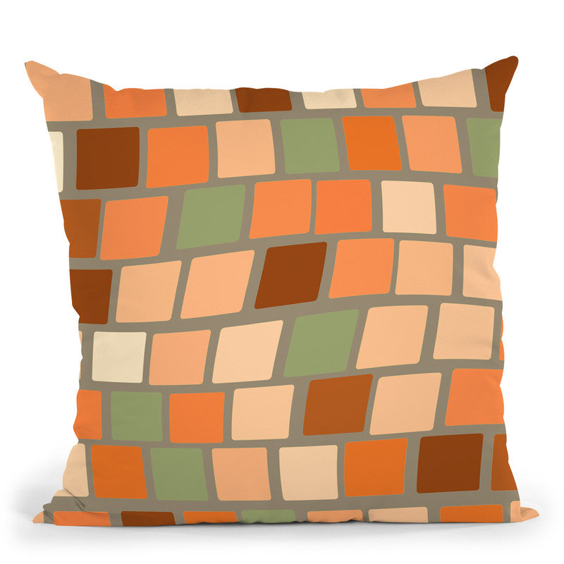 Africa Square Tile Pattern Throw Pillow By Andrea Haase