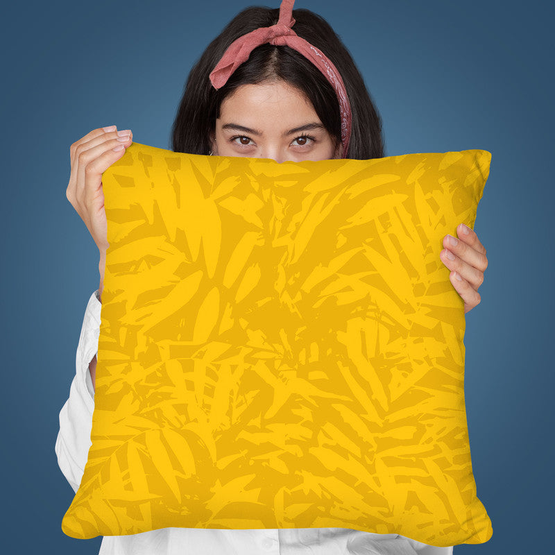 Aloha Yellow Throw Pillow By Andrea Haase