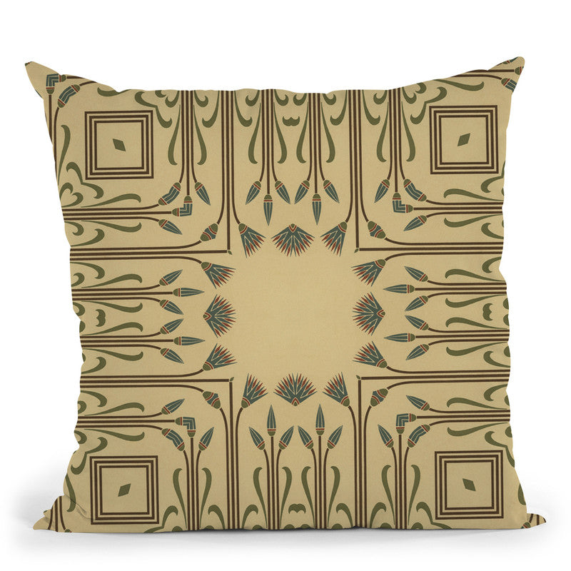 Art Deco Black Gold Viii Throw Pillow By Andrea Haase