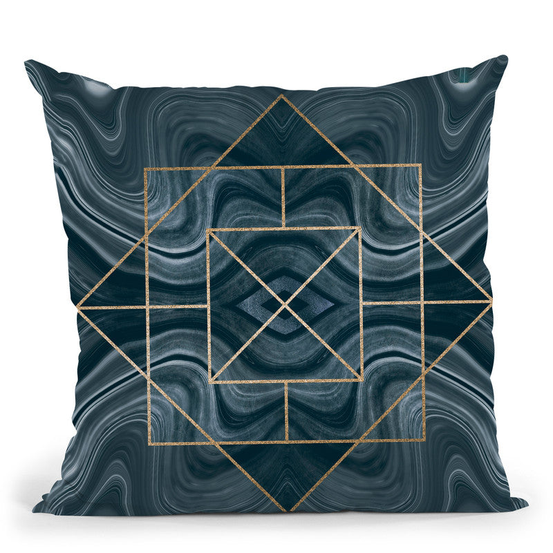 Art Deco Marble Throw Pillow By Andrea Haase