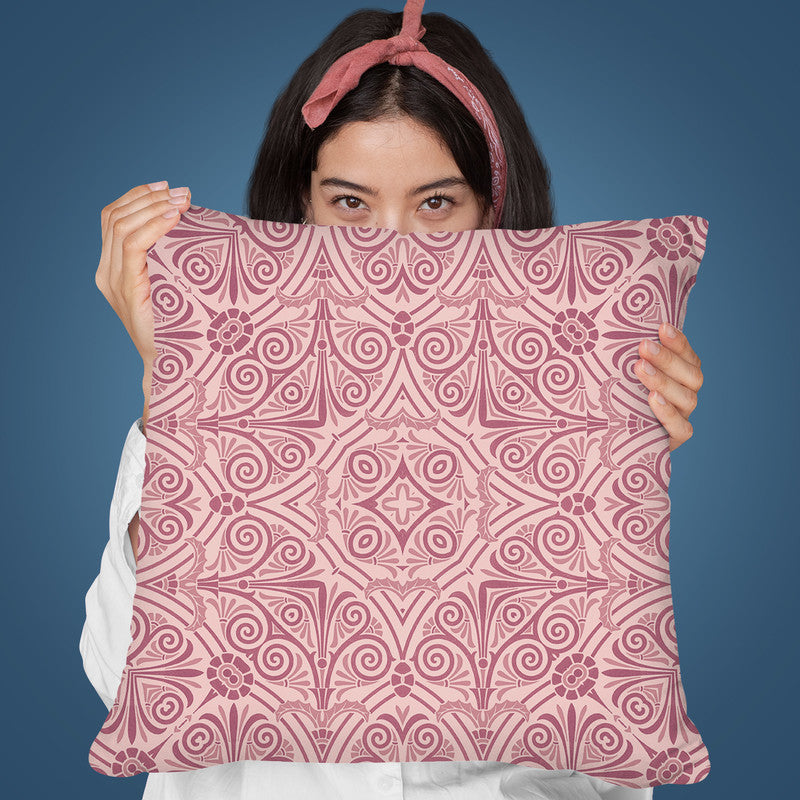Art Deco Pastel Pink Throw Pillow By Andrea Haase