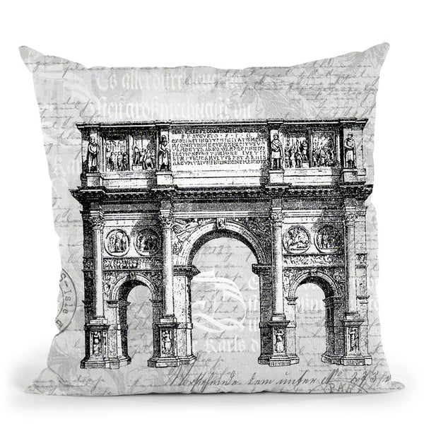 Baroque Black Throw Pillow By Andrea Haase