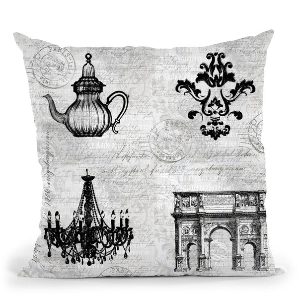 Baroque Iii Throw Pillow By Andrea Haase