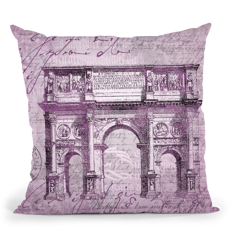 Baroque Purple Throw Pillow By Andrea Haase