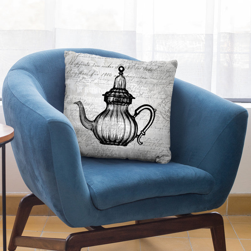 Baroque Teapot Black Throw Pillow By Andrea Haase
