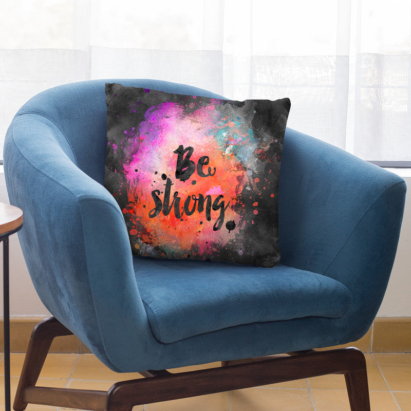 Be Strong Throw Pillow By Andrea Haase