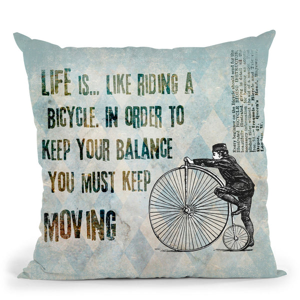 Bicycle Throw Pillow By Andrea Haase