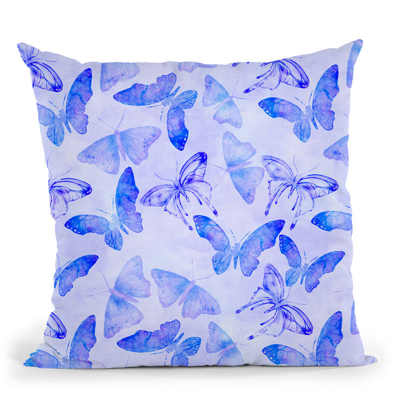 Blue Butterflies Throw Pillow By Andrea Haase