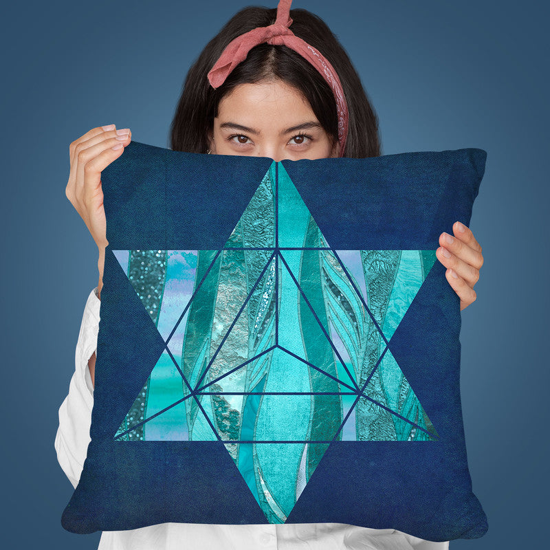 Blue Glamour I Throw Pillow By Andrea Haase