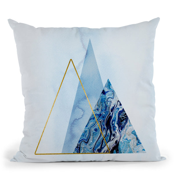 Blue Icebergs Base Big Throw Pillow By Andrea Haase