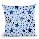 Blue Wc Stars Throw Pillow By Andrea Haase