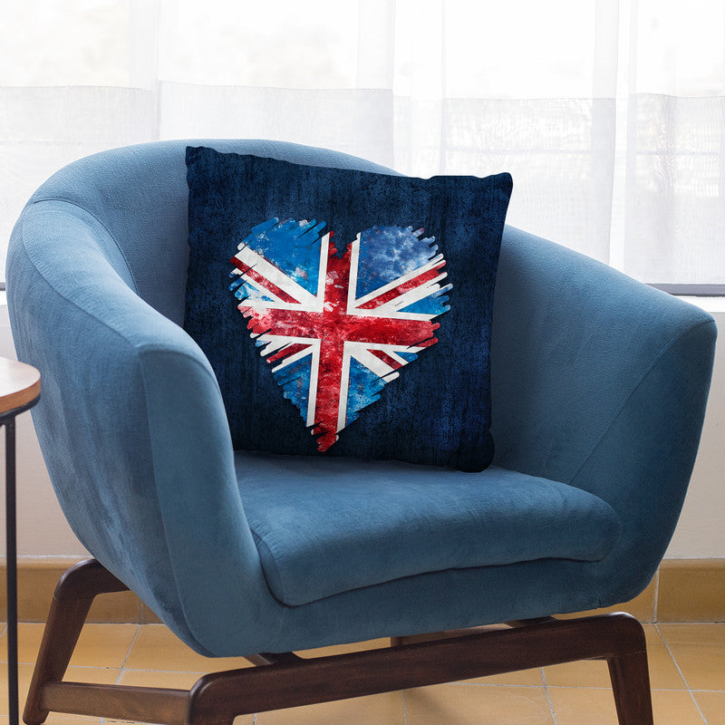 Brexit Heart Throw Pillow By Andrea Haase