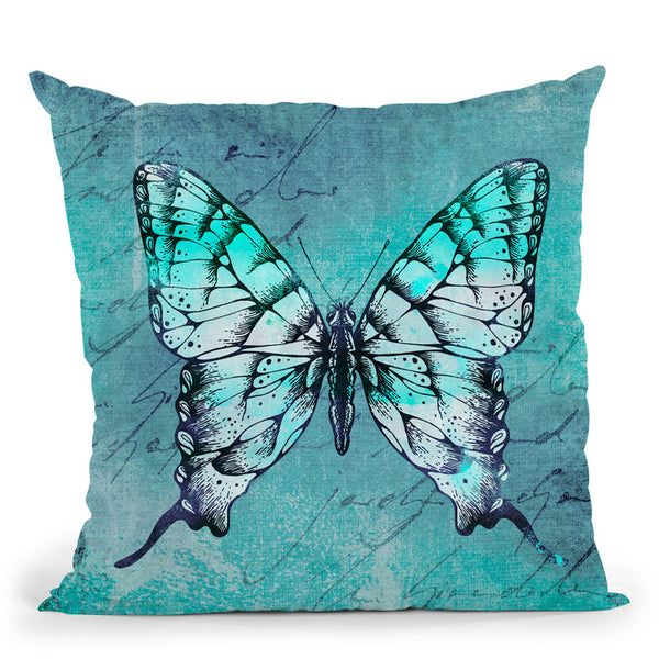 Butterflies Vii Throw Pillow By Andrea Haase