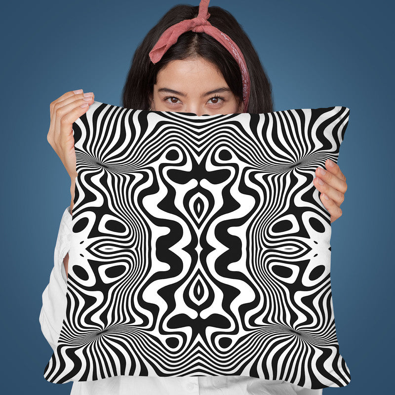 Black And White Swirl Throw Pillow By Andrea Haase