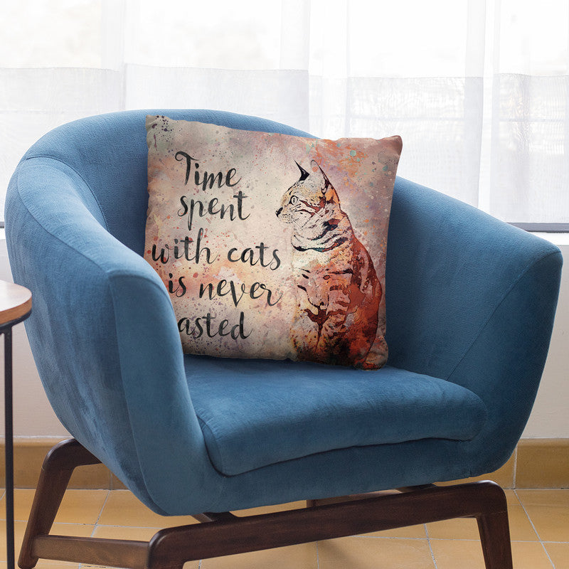 Cats Quote Throw Pillow By Andrea Haase