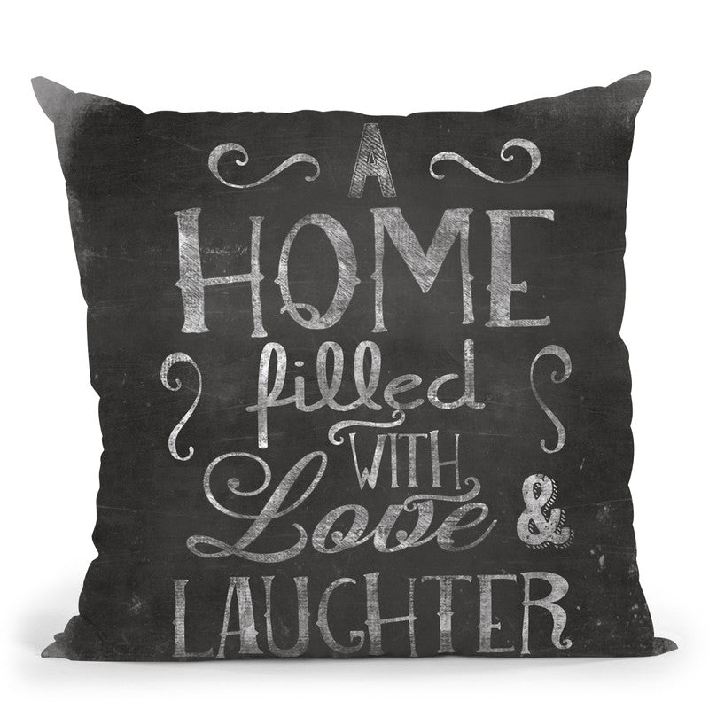 Chalkboard Home Throw Pillow By Andrea Haase