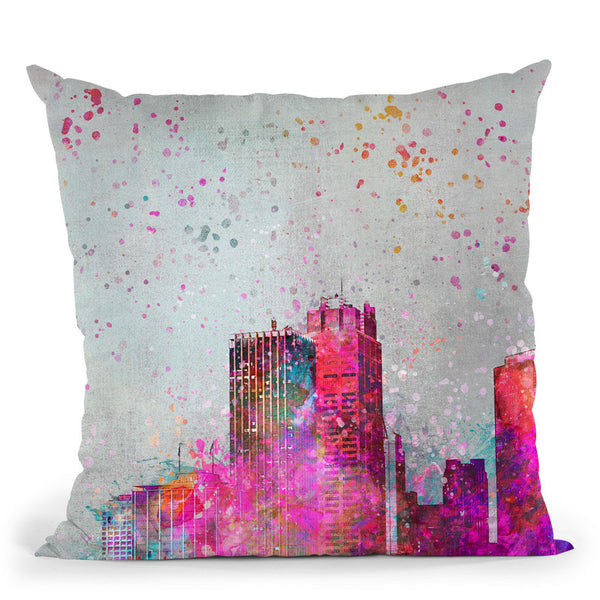 City Of Colors Throw Pillow By Andrea Haase