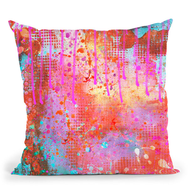 Color Splash Throw Pillow By Andrea Haase